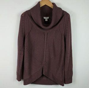 Loft | Mauve cowl neck sweater L